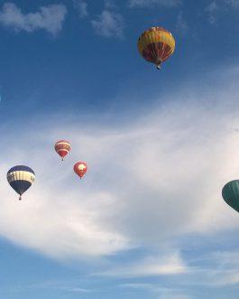 oro balionai danguje