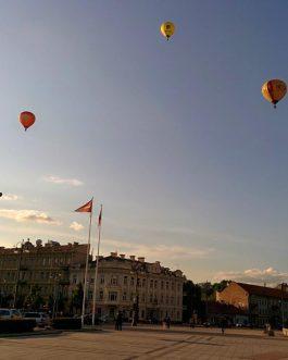 skrydis oro balionu vilnius