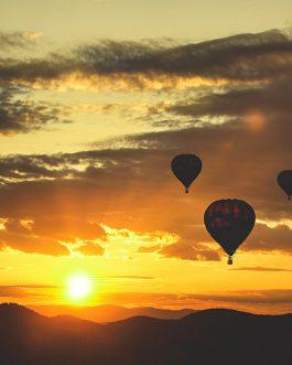Romantiškas skrydis oro balionu dviems
